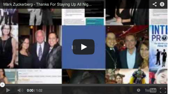 Mark Zuckerberg – Thanks For Staying Up All Night To Complete This Video For Me